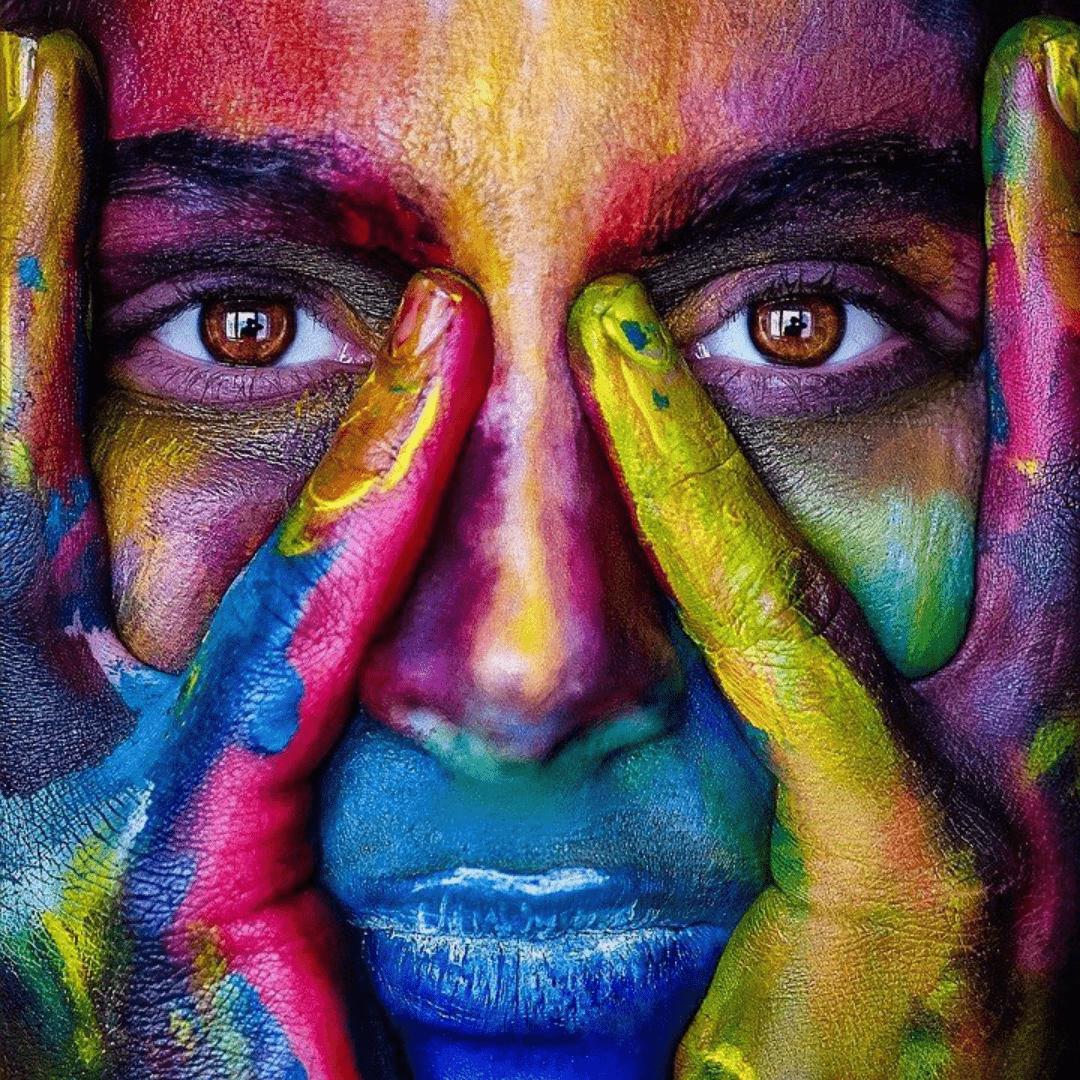 Gekleurd gezicht