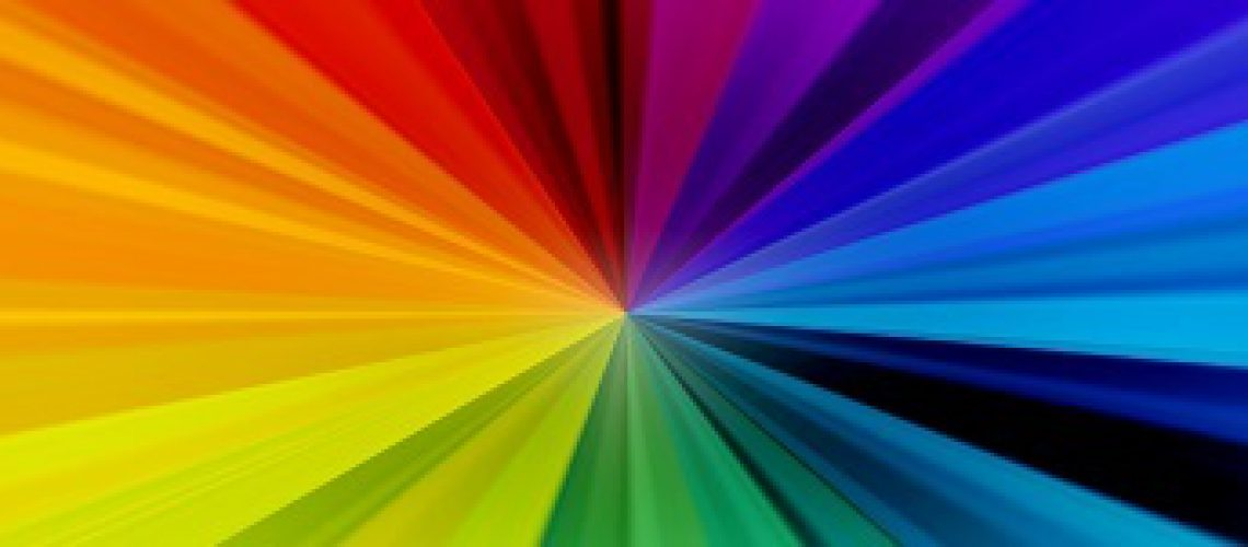 Rainbow Burst Background